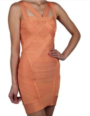 HERVE LEGER JULIANNA DRESS ORANGE Wholesale with free shipping