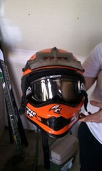 2006 Orange Arctic Cat Helmet
