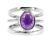 Awesome 925 Sterling Silver Amethyst Ring